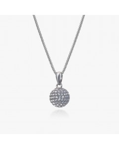 Real Effect Sterling Silver CZ Ball Pendant RE37794CZ