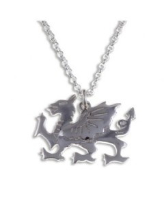 Sterling Silver Welsh Dragon Pendant SP927
