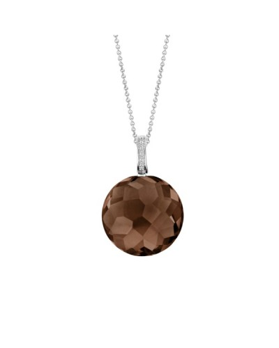 Ti Sento Sterling Silver Brown Crystal Pendant 6758TB