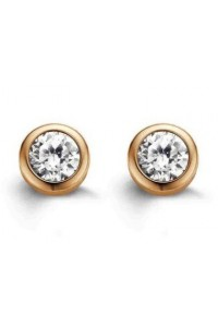 Ti Sento Rose Gold Plated Sterling Silver CZ 4mm Stud Earrings 7597ZR