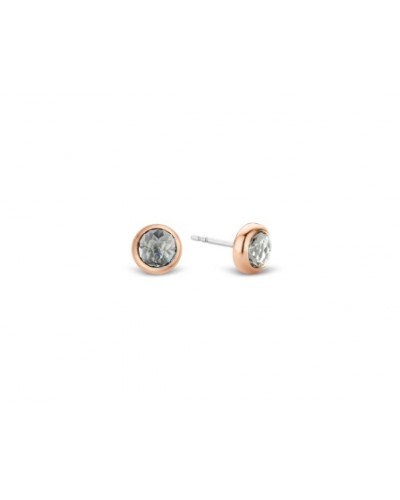 Ti Sento Milano Gold Plated Grey-Blue Stud Earrings 7748GB