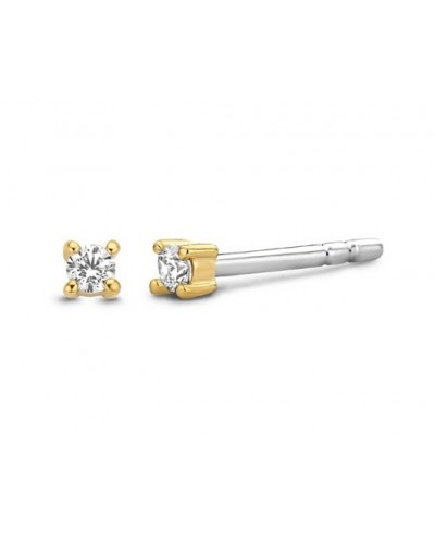 Ti Sento Milano Sterling Silver Gold Plated 2mm Crystal Stud Earrings 7834ZY