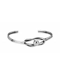 Tianguis Jackson Sterling Silver Loop & Ball Torque Bangle BT1734