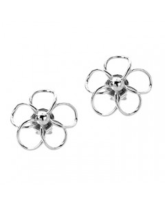 Tianguis Jackson Sterling Silver Flower Earrings CE1319