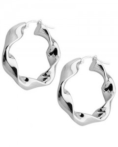 Tianguis Jackson Sterling Silver Twisted Creole Earrings CE1739