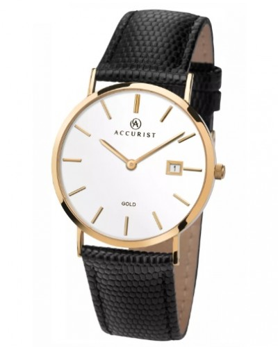 Accurist Gents 9ct Gold Watch 7801