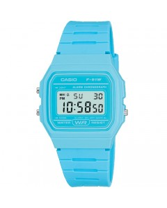 Casio LCD Blue Alarm-Chronograph Watch F-91WC-2AEF