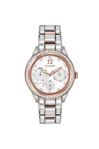 Citizen Ladies Eco-Drive Watch FD2016-50A with stone set bezel