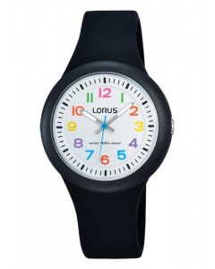 Lorus Children's Black Silicon Watch RRX41EX9