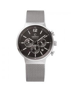 Obaku Gents Storm Onyx Chronograph Watch V180GCCBMC