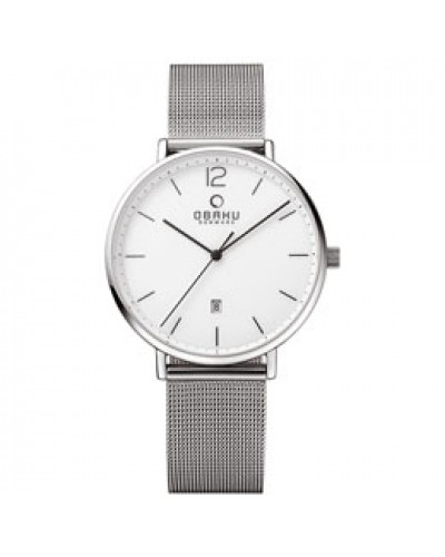 Obaku Gents Toft Steel Watch V181GDCWMC