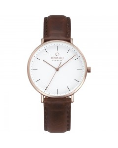 Obaku Ladies Vest Mahogany Watch V186LXVWRN
