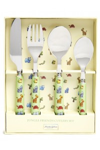 Martin Gulliver Jungle Friends 4 Piece Cutlery Set
