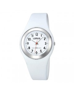 Lorus Children's White Resin Watch R2399FX9