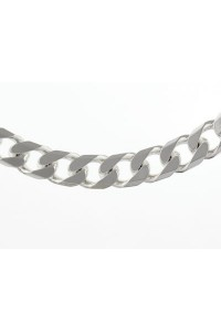 "Sterling Silver Gents 20"" Octagonal Curb Chain S635/20"