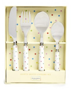Martin Gulliver Spotty Dotty 4 Piece Cutlery Set